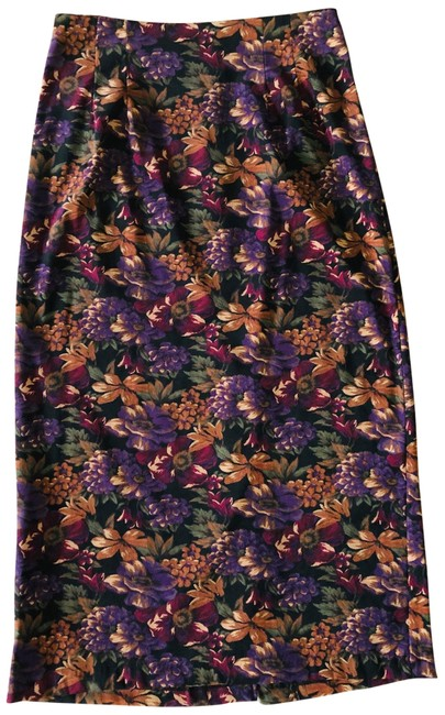Item - Multicolored Floral Skirt Size 12 (L, 32, 33)