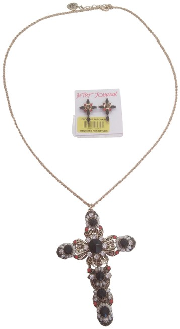 Item - Black New and Red Cross Necklace