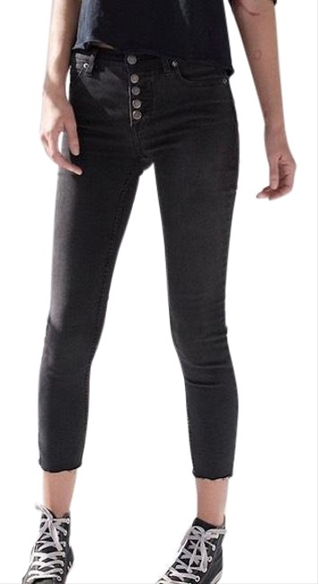 Item - Washed Black Fp Reagan Front Skinny Jeans Size 2 (XS, 26)