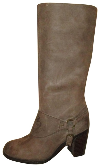 Item - Taupe Delsa Tall Distressed Leather Boots/Booties Size US 9 Regular (M, B)