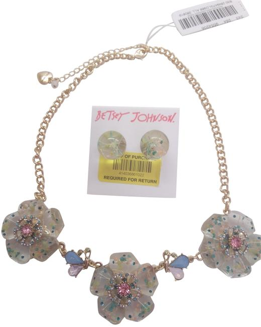 Item - Pink New Lucite Flower Necklace and Er