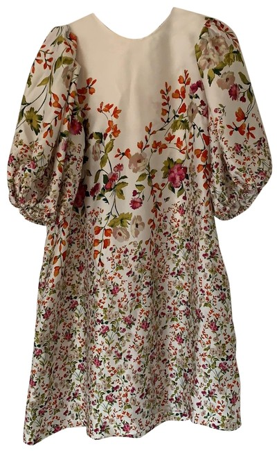 Item - Multi Colored Floral Short Casual Dress Size 4 (S)