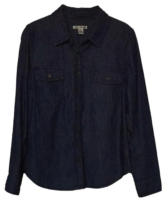 Item - Chambray Button-down Top Size 8 (M)