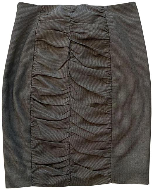 Item - Grey Cartonnier Ruched Pencil Skirt Size 4 (S, 27)