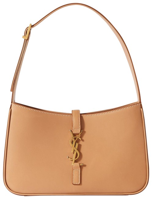 Item - Le 5 À 7 In Vegetable-tanned Brown Gold Leather Hobo Bag