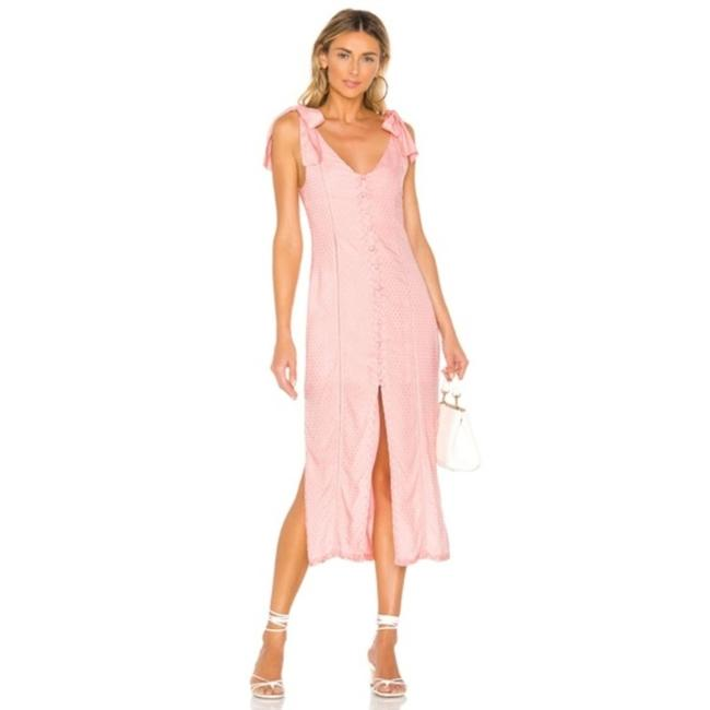 Item - Pink Baby Birdie Button Up Mid-length Casual Maxi Dress Size 4 (S)
