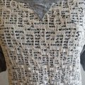 Weston Wear Gray Black Anthropologie with Lace Overlay Tee Shirt Size 8 (M) Weston Wear Gray Black Anthropologie with Lace Overlay Tee Shirt Size 8 (M) Image 4