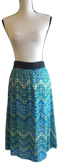 Item - Blue Yellow White *retired Style * Lola Skirt Size 12 (L)
