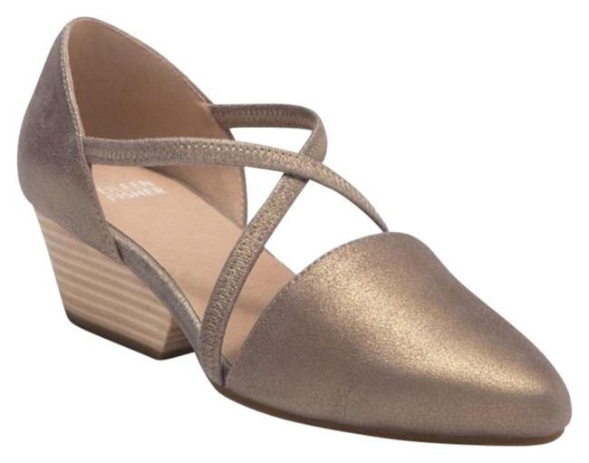 Item - Tan/Gold Poet Crisscross Pumps Size US 7.5 Regular (M, B)