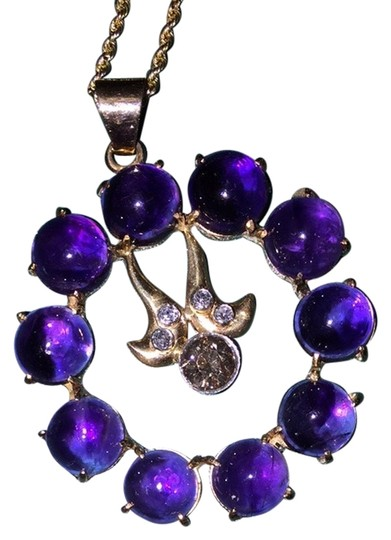 Preload https://item5.tradesy.com/images/amethyst-and-champaign-diamond-necklace-2773024-0-0.jpg?width=440&height=440