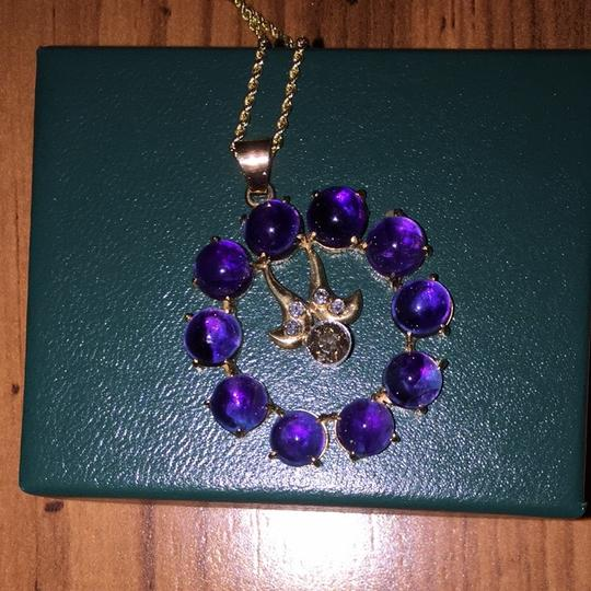 Other Amethyst And Champaign Diamond Necklace