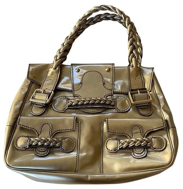 Item - Histoire Gold Patent Leather Tote
