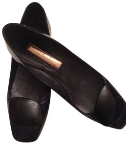 Rupert Sanderson Patent Next Day Shipping navy blue Flats