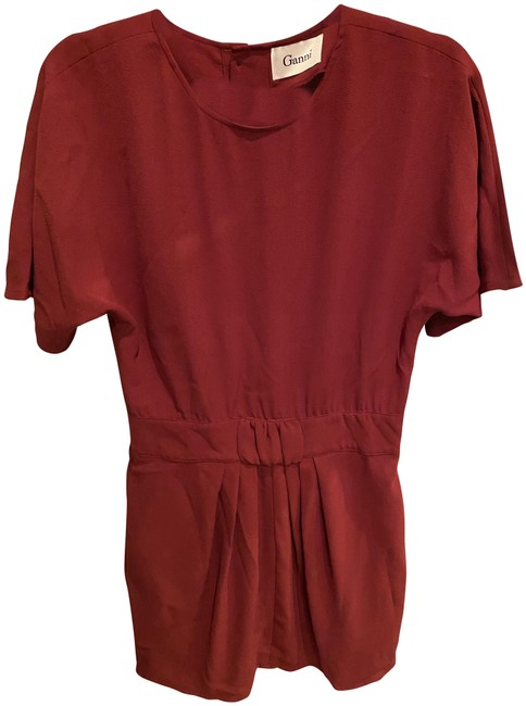Preload https://img-static.tradesy.com/item/27732008/ganni-burgundy-sleeve-button-back-short-casual-dress-size-8-m-0-1-650-650.jpg