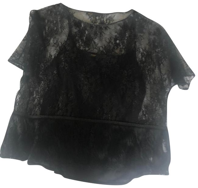 Preload https://img-static.tradesy.com/item/27732366/maje-embroidered-and-fringed-black-top-0-4-650-650.jpg