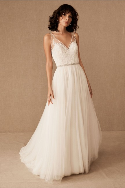 Wtoo Ivory Bhldn Cassia Locklin Gown Feminine Wedding Dress Size 14 (L) Wtoo Ivory Bhldn Cassia Locklin Gown Feminine Wedding Dress Size 14 (L) Image 1
