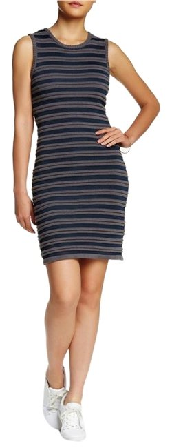 Item - By Yigal Azrouel Striped Knit Short Casual Dress Size 4 (S)