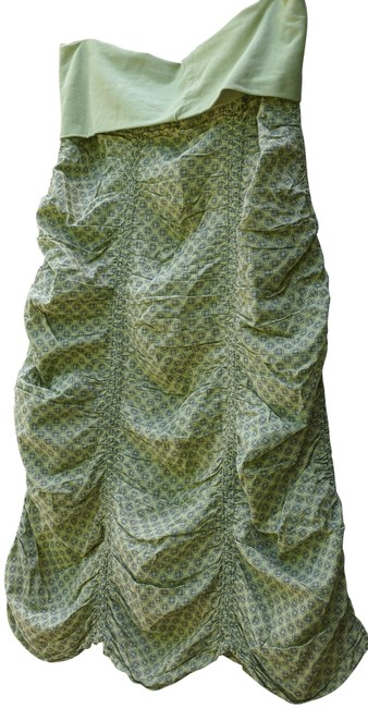Item - Lime Green Ruched Skirt Size 2 (XS, 26)
