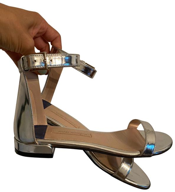 Item - Silver Nudist June Sandals Size US 6.5 Regular (M, B)