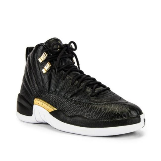 Item - Black Gold 12 Retro In & White Sneakers Size US 5.5 Regular (M, B)
