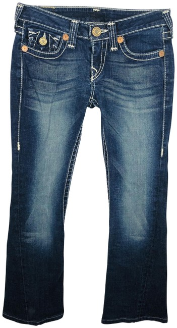 """Item - Blue World Tour Flap Pocket Hemmed To 28"""" Inseam Boot Cut Jeans Size 27 (4, S)"""