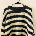Topshop Striped Gray White Sweater Topshop Striped Gray White Sweater Image 6