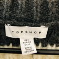 Topshop Striped Gray White Sweater Topshop Striped Gray White Sweater Image 8