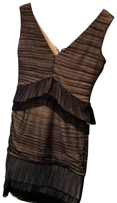 Item - Black and Tan Short Night Out Dress Size 4 (S)