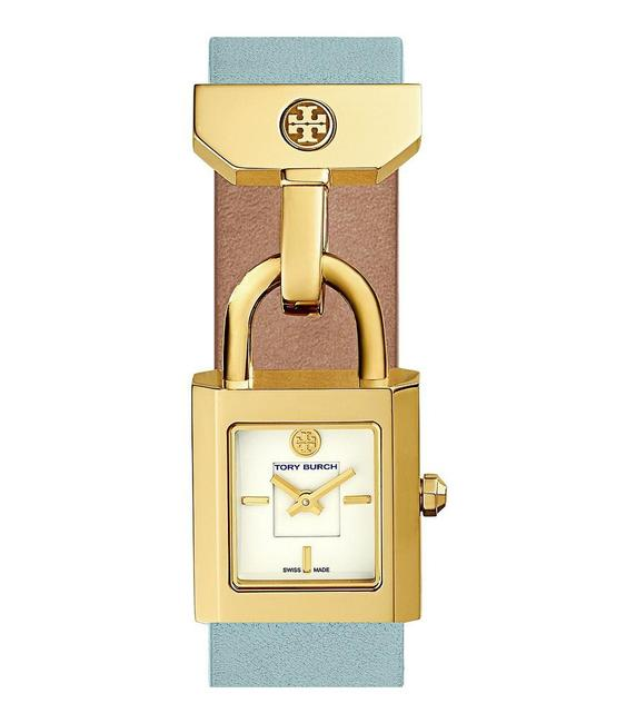 Item - Gold Surrey Tb7007 22mm Stainless Steel Leather Band Watch