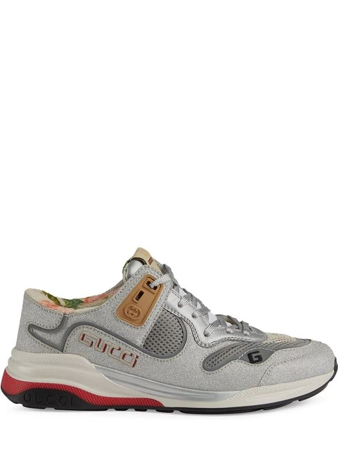 Item - Gray Silver Gr Ultrapace Polyurethane Sneakers Size EU 38 (Approx. US 8) Regular (M, B)
