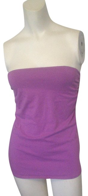 Item - New Ruched Strapless Built In Shelf Bra S Magenta Top