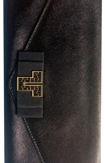 Item - Black with Gold Leather Clutch
