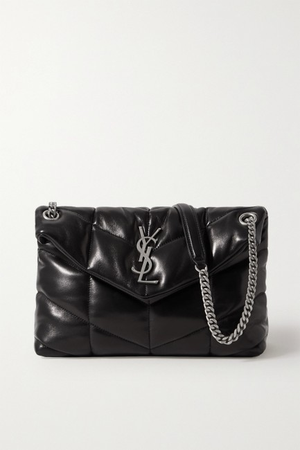 Item - Monogram Loulou Ysl Puffer Small In Quilted Black Lambskin Leather Shoulder Bag