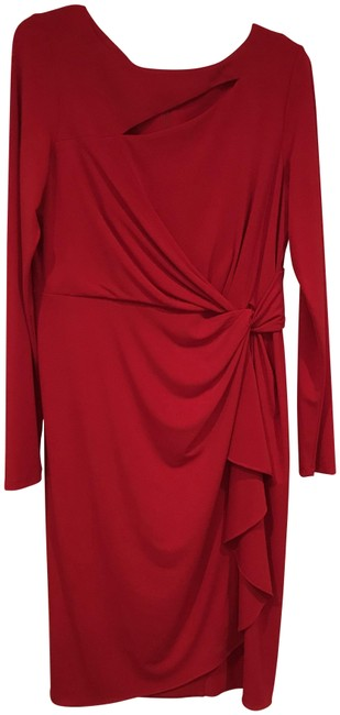 Item - Red No Mid-length Cocktail Dress Size 12 (L)