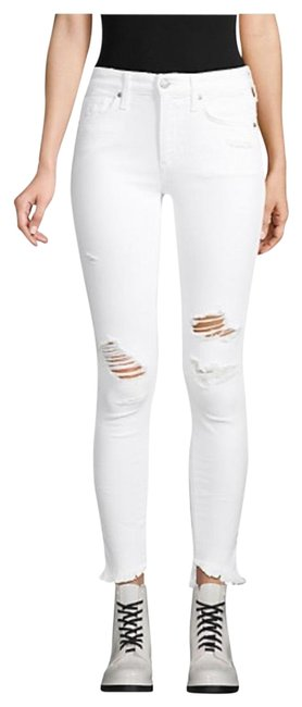 Item - White Distressed Skinny Jeans Size 4 (S, 27)