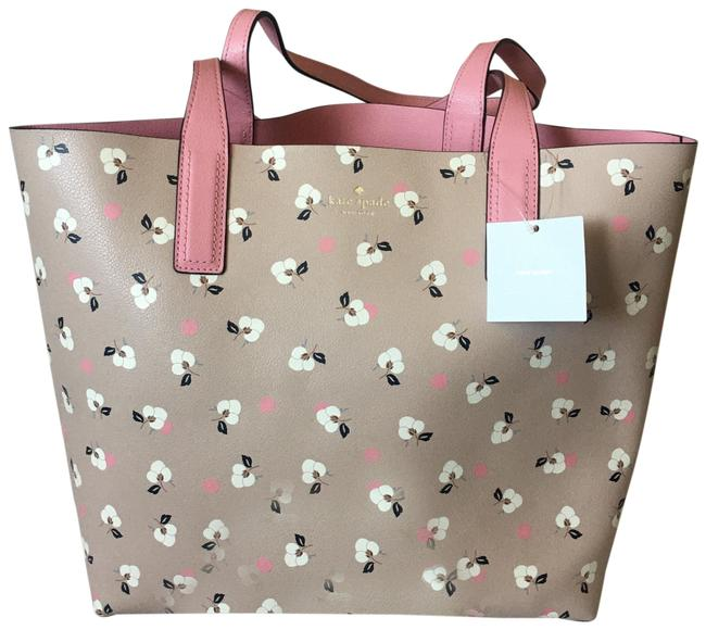 Item - Arch Place Mya Breezy Floral Pink Or Blue Leather Tote