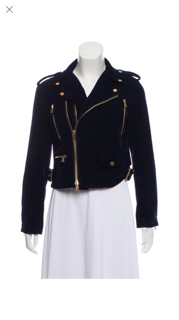 Item - Navy Moto with Gold Accents Jacket Size 4 (S)