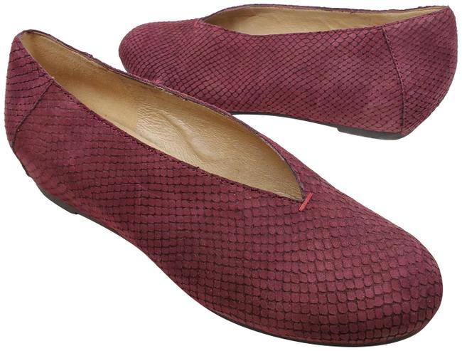 Item - Dark Plum Women Patch Suede Embossed Flats Size US 6.5 Regular (M, B)