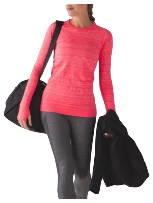 Item - Heathered Electric Coral Restless Pullover Activewear Top Size 4 (S)