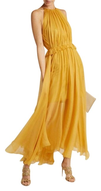Item - Yellow Kamille Mid-length Formal Dress Size 10 (M)
