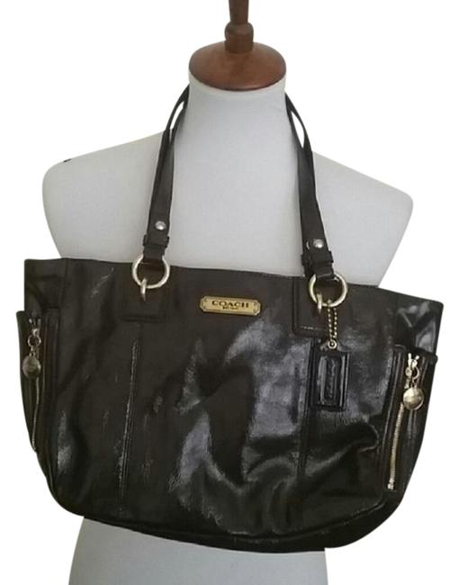Item - Gallery Brown Patent Leather Tote