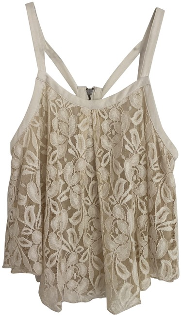 Item - Ivory Lace with Geometric Straps Cream Top