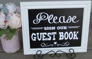 Rustic Chalk Board Look Set Of Wedding Signs-4 Signs Super Cute!