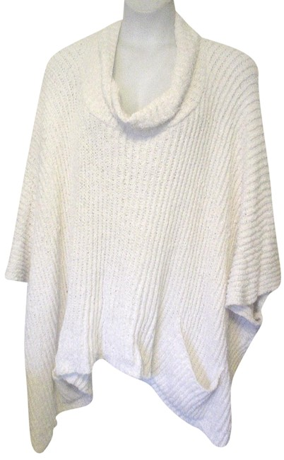 Item - Ivory Winter White Chenille Front Pockets 2x 3x Ec Poncho/Cape Size 26 (Plus 3x)
