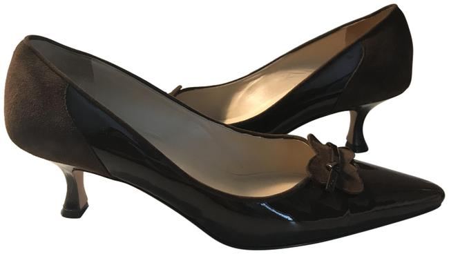 Item - Brown Pointy Toe Patent Leather with Kitten Heel Pumps Size EU 36 (Approx. US 6) Regular (M, B)