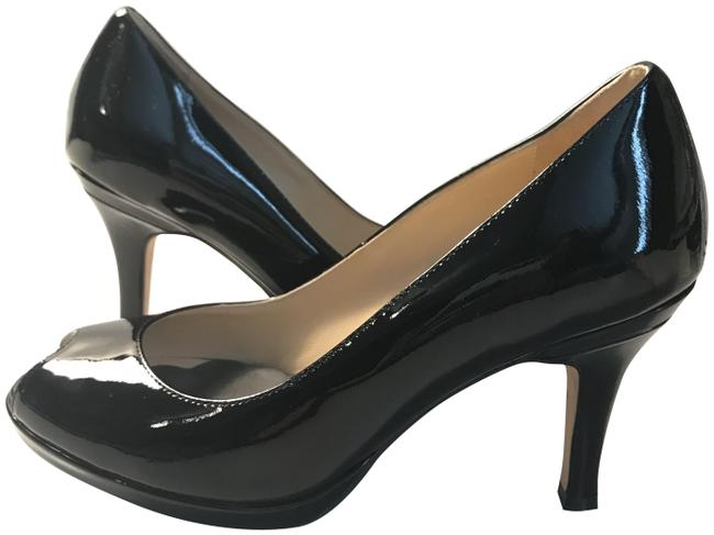 Item - Black Patent Leather Peep Toe with 1/4 Inch Platform Pumps Size US 6 Regular (M, B)