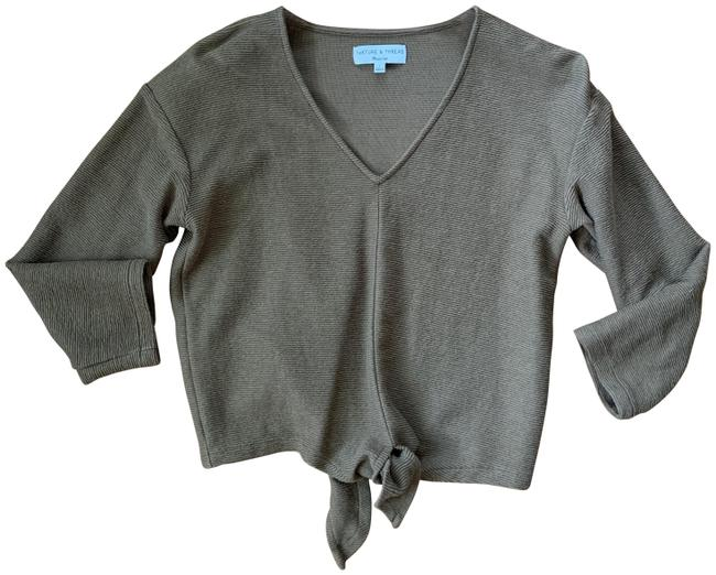 Madewell Olive Green K4775 Blouse Size 6 (S) Madewell Olive Green K4775 Blouse Size 6 (S) Image 1