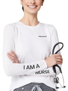 Figs Underscrub I Am Nurse T Shirt Top White Black