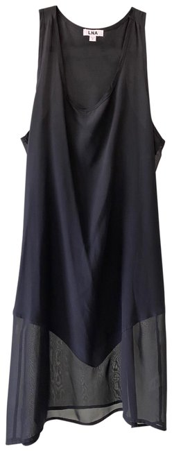 Item - Black Silk Sheer Accents. Short Night Out Dress Size 4 (S)