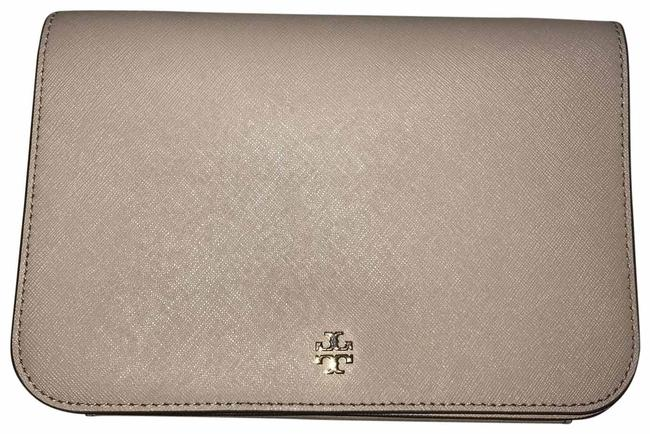 Item - Robinson Like New Taupe and Gold Leather Cross Body Bag